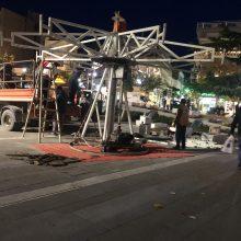 kozan.gr: Ξεκίνησαν οι εργασίες εγκατάστασης του Χριστουγεννιάτικου Καρουζέλ στην κεντρική πλατεία της Κοζάνης