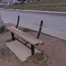 """Kozan.gr: Κοζάνη: """"Τα παγκάκια της ντροπής"""", έξω από το γήπεδο ποδοσφαίρου 5Χ5, στην περιοχή Πλατάνια, απέναντι από τον Ι.Ν της Παναγίας Φανερωμένης (Φωτογραφίες)"""