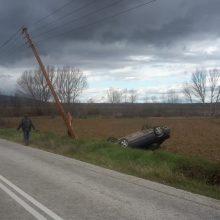 Τροχαίο ατύχημα σημειώθηκε το Σάββατο στην Επαρχιακή Οδό Πτολεμαΐδας – Γαλάτειας ευτυχώς χωρίς τραυματισμούς