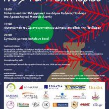 H αφίσα για τη φωταγώγηση του Χριστουγεννιάτικου Δέντρου στην Αιανή την Κυριακή 8 Δεκεμβρίου