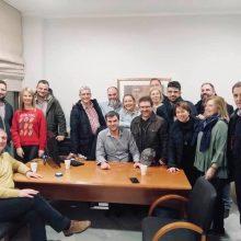Η αναμνηστική φωτογραφία της παράταξης ΔΚΜ στο ΤΕΕ/Τμ. Δ. Μακεδονίας με αφορμή την εκλογή του, επί κεφαλής της, Στέργιου Κιάνα στην Προεδρία του Επιμελητηρίου