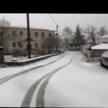 "kozan.gr: Ώρα 13:30: Το ""'στρωσε"", το χιόνι, στην Βλάστη Εορδαίας (Βίντεο)"