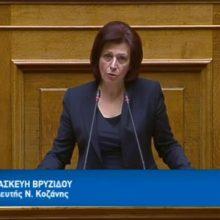 """Ομιλία της Παρασκευής Βρυζίδου Βουλευτή Ν. Κοζάνης στην Ολομέλεια της Βουλής των Ελλήνων για το Ν/Σ: """"Κύρωση του Κρατικού Προϋπολογισμού Οικονομικού Έτους 2020"""",  στις 15/12 (Βίντεο)"""