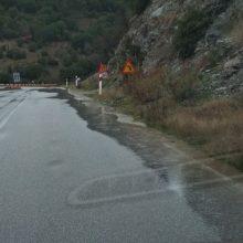 Σε κακή κατάσταση η Εθνική οδός Λάρισας – Κοζάνης (Φωτογραφίες)