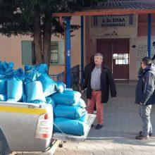 Διανομή αλατιού από το Δήμο Εορδαίας στα σχολεία
