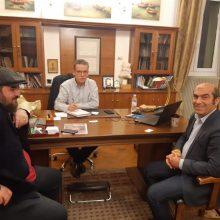 Mε τον προϊστάμενο Βορείου Ελλάδος της Διεύθυνσης Νέας Γενιάς της Γενικής Γραμματείας Επαγγελματικής Εκπαίδευσης, Κατάρτισης και Διά Βίου Μάθησης, Μπάμπη Παπαϊωάννου συναντήθηκε ο Δήμαρχος Κοζάνης, Λάζαρος Μαλούτα,