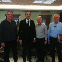 Επίσκεψη συνεργασίας του Βουλευτή Π.Ε. Κοζάνης Στάθη Κωνσταντινίδη στην ΑΝΚΟ