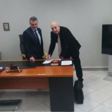 kozan.gr: Ορκίστηκε, στη Θεσσαλονίκη, σήμερα το πρωί, στις εγκαταστάσεις της 3ης ΥΠΕ, ο νέος διοικητής του Μαμάτσειου νοσοκομείου Κοζάνης Στέργιος Γκανάτσιος (Βίντεο)