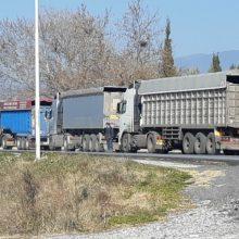 kozan.gr: Ώρα 13.00:  Έλεγχοι της Τροχαίας Κοζάνης και από τις δύο πλευρές της Υψηλής Γέφυρας των Σερβίων – Διέλευση ενός φορτηγού κάθε φορά (Βίντεο & Φωτογραφίες)