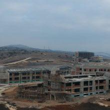 Σημερινές (19/1/2020) εικόνες του kozan.gr από την ανεγειρόμενη Πανεπιστημιούπολη Δ. Μακεδονίας στην περιοχή της ΖΕΠ στην Κοζάνη