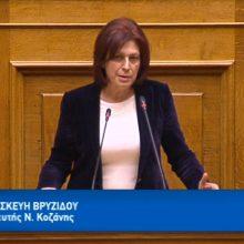 Ομιλία Π. Βρυζίδου Βουλευτή Π.Ε. Κοζάνης, Νέας Δημοκρατίας, στην Ολομέλεια της Βουλής των Ελλήνων, κατά τη συζήτηση και ψήφιση του σχεδίου νόμου του Υπουργείου Εσωτερικών: «Εκλογή Βουλευτών» (Βίντεο)