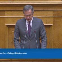"""Η ομιλία του Σ. Κωνσταντινίδη στην Ολομέλεια της Βουλής για τον εκλογικό νόμο: """"Είναι εκλογικό νόμος με προσωπικότητα, έντιμος, συνεπής, σύγχρονος, μετριοπαθής & ακέραιος"""" (Βίντεο)"""