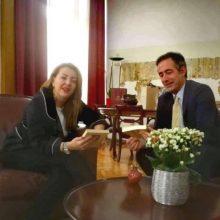 Συνάντηση του βουλευτή Π.Ε. Κοζάνης με την επικεφαλής του γραφείου του Πρωθυπουργού στη Θεσσαλονίκη, Μαρία Αντωνίου