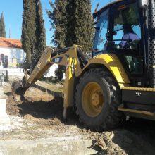 Εργασίες εξωραϊσμού των Κοιμητηρίων Κήπου στο Δήμο Κοζάνης (Φωτογραφία)