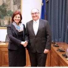 Η Παρασκευή Βρυζίδου Βουλευτής Ν. Κοζάνης στη συνάντηση της Κοινοβουλευτικής Ομάδας Φιλίας Ελλάδας – Σλοβενίας με τον Πρέσβη της Σλοβενίας στην Αθήνα