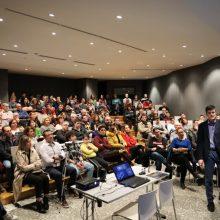 kozan.gr: Γέμισε από κόσμο, το απόγευμα του Σαββάτου 1/2, το αμφιθέατρο της Κοβενταρείου Δημοτικής Βιβλιοθήκης Κοζάνης, στην ομιλία «Η Κβαντική φύση της βαρύτητας»  (Βίντεο 4′ & 24 Φωτογραφίες)