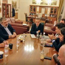 Koζάνη: Συνάντηση με τον Εκπρόσωπο Τύπου του Κινήματος Αλλαγής, Παύλο Χρηστίδη, είχαν, το απόγευμα του Σαββάτου 1 Φεβρουαρίου, οι δήμαρχοι των Ενεργειακών Δήμων της περιοχής