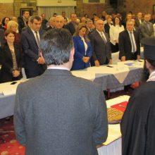 Με παρουσίες αρκετών στελεχών από την Κοζάνη η κοπή της πίτας της ΝΟΔΕ Καστοριάς, παρουσία του Υπουργού Εσωτερικών Τάκη Θεοδωρικάκου  –  Το φλουρί στο βουλευτή Κοζάνης Μιχάλη Παπαδόπουλο