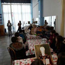 """Επίσκεψη 18ου Δημοτικού Σχολείου Κοζάνης στο εργαστήρι αγιογραφίας του Πολιτιστικού Συλλόγου """"ΑΡΙΣΤΟΤΕΛΗΣ"""" Κοζάνης"""