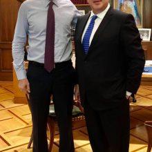 Στον Πρωθυπουργό Κ. Μητσοτάκη ο βουλευτής Κοζάνης Μ. Παπαδόπουλος