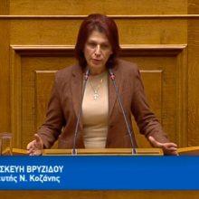 Ομιλία της Π. Βρυζίδου στην Ολομέλεια της Βουλής των Ελλήνων με θέμα: συζήτηση του σχεδίου νόμου του Υπουργείου Περιβάλλοντος και Ενέργειας «Εκσυγχρονισμός της Χωροταξικής και Πολεοδομικής νομοθεσίας», στις 3/12 (Βίντεο)