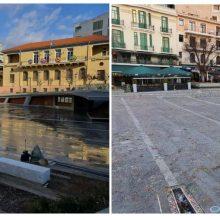 kozan.gr: Το πριν και το μετά της κεντρικής πλατείας Κοζάνης, όπως την κατέγραψε σήμερα Καθαρά Δευτέρα το kozan.gr  (Φωτογραφίες)