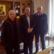Εθιμοτυπική επίσκεψη του νέου Διοικητή της Περιφερειακής Πυροσβεστικής Διοίκησης Δυτικής Μακεδονίας στον Πρόεδρο του Επιμελητηρίου Κοζάνης
