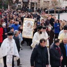 Η ενορία του Αγίου Νικολάου Σιάτιστας υποδέχθηκε, παρουσία πλήθος πιστών, την 8η Μαρτίου 2020, την Ιερά Εικόνα της Παναγίας Ελεούσας από την Ιερά Μονή Μικροκάστρου (Φωτογραφίες & Βίντεο)