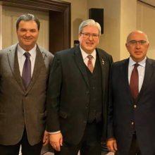 Στο Βερολίνο με τον Υπουργό Ενέργειας Jorg Steinbach του κρατιδίου του BRANDENBURG o βουλευτής Κοζάνης Μ. Παπαδόπουλος