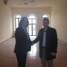 "kozan.gr: Τη σύνδεση του Δήμου Σερβίων με το Πανεπιστήμιο Δ. Μακεδονίας, μέσω του ""Τούρκικου σχολείου"", προωθεί ο Δήμαρχος Σερβίων Χ. Ελευθερίου – Συναντήθηκε με τον Πρύτανη Θ. Θεοδουλίδη (Φωτογραφία)"