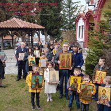Mε συμμετοχή μαθητών η λιτάνευση των εικόνων στη γιορτή της Ορθοδοξίας 2020 στο Βελβεντό της Ιεράς Μητροπόλεως Σερβίων και Κοζάνης.  (του παπαδάσκαλου Κωνσταντίνου Ι. Κώστα)