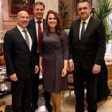 """Γ. Κασαπίδης: """"Χάρηκα ιδιαιτέρως που γνώρισα από κοντά τη Γενική Γραμματέα του Δ.Σ. του Επιμελητηρίου, τη συμπατριώτισσα μας Αικατερίνη Κάτανα, που διαπρέπει ως δικηγόρος στην Ισπανία"""""""