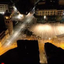 H εταιρεία recpro.gr, με τη χρήση drone, παρουσιάζει την κίνηση στην πόλη της Κοζάνης, το βράδυ του Σαββάτου 21/3