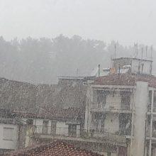 kozan.gr: Ώρα 19.00: Πυκνή χιονόπτωση στην πόλη της Κοζάνης  (Βίντεο)