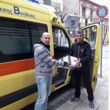 Δωρεά προστατευτικών γυαλιών από τον σύλλογο δρομέων Υγείας Κοζάνης στο ΕKAB Κοζάνης