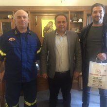 Ένωση Υπαλλήλων Πυροσβεστικού Σώματος Περιφέρειας Δυτικής Μακεδονίας: Ευχαριστήριο στο Επιμελητήριο Κοζάνης
