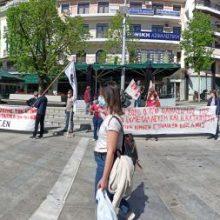 Koζάνη: H σημερινή συμβολική κινητοποίηση των ταξικών εργατικών σωματείων για τον εορτασμό της Εργατικής Πρωτομαγιάς (Φωτογραφίες)
