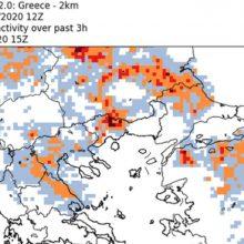 Μεταβολή του καιρού με έντονη κεραυνική δραστηριότητα στη Βόρεια Ελλάδα