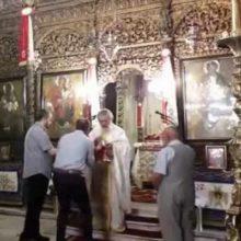 kozan.gr: Κοζάνη:Με αντισηπτικά στην είσοδο, τον προβλεπόμενο αριθμό πιστών στο εσωτερικό του ναού και με την τήρηση των αποστάσεων, εκκλησιάστηκαν και κοινώνησαν, μετά από πολύ καιρό, στον Ι.Μ.Ν Αγ. Νικολάου Κοζάνης, σήμερα Κυριακή 17/5 (Βίντεο)