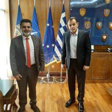 Με τον Υπουργό Εθνικής Άμυνας Νίκο Παναγιωτόπουλο συναντήθηκε ο Βουλευτής Καστοριάς Ζήσης Τζηκαλάγιας