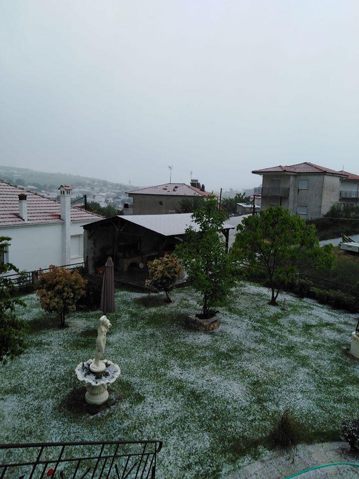 kozan.gr: Άσπρισε, από το χαλάζι, το Λιβαδερό του Δήμου Σερβίων (Φωτογραφία)