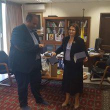 Τον Αντιπεριφερειάρχη της Π.E. Γρεβενών, Γιάννη Γιάτσιο, επισκέφθηκε χθες, Πέμπτη 11 Ιουνίου 2020, η πρέσβης της Σλοβακίας στην Ελλάδα