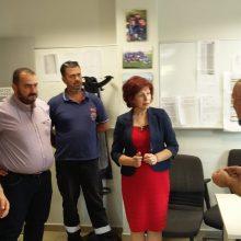 Στο Κέντρο του ΕΚΑΒ Δυτικής Μακεδονίας (στην Κοζάνη) η βουλευτής Παρασκευή Βρυζίδου (Φωτογραφία)