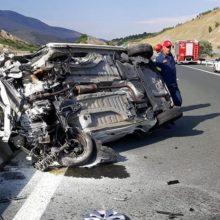 Τροχαίο ατύχημα, στην Εγνατία οδό, στη γέφυρα του Αλιάκμονα, στο ρεύμα από Γρεβενά προς Κοζάνη (Φωτογραφία)