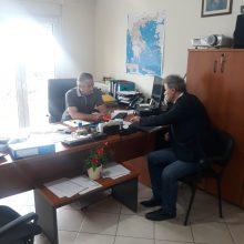 Ο Βουλευτής Π.Ε. Κοζάνης Γιώργος Αμανατίδης συναντήθηκε σήμερα 6/7 με τον Διευθυντή του Υποκαταστήματος Κοζάνης του ΕΛΓΑ  Βρόντζο Γεώργιο