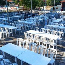Όλα έτοιμα για το σημερινό ετήσιο καλοκαιρινό γλέντι στη Σκήτη Κοζάνης – Με απολύμανση και όλα τα μέτρα προστασίας (Φωτογραφίες)
