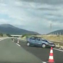 Εγνατία: Τροχαίο στο τμήμα Κοζάνης – Βέροιας, πριν τα διόδια Πολυμύλου (Bίντεο)