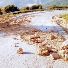 Σημερινή φωτογραφία: Διασταύρωση Ζαβορδας/Σκουμτσιας με Ιλαρίωνα – O δρόμος παραμένει σ' αυτή την κατάσταση μετά την τελευταία δυνατή βροχόπτωση