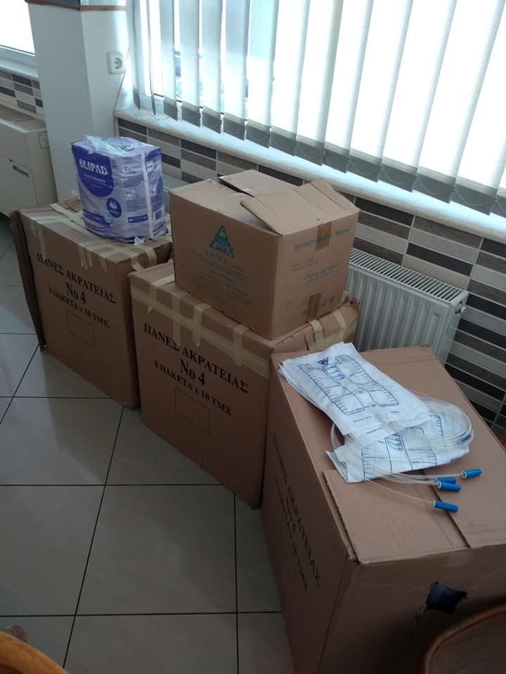 """Ο Χριστιανικός Φιλανθρωπικός Σύλλογος """"O Καλός Σαμαρείτης"""" παρέδωσε, σήμερα Τετάρτη 12/8, υγειονομικό υλικό στο Μποδοσάκειο νοσοκομείο Πτολεμαΐδας"""
