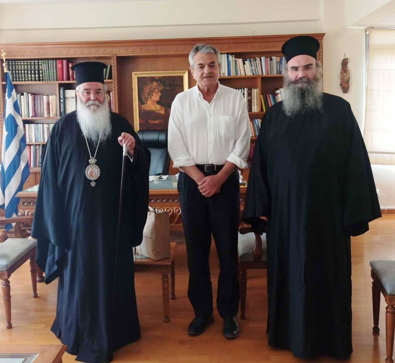 Επίσκεψη του Σεβασμιωτάτου Μητροπολίτη Σερβίων και Κοζάνης κ.κ.Παύλου στον Αντιπεριφερειάρχη Π.Ε. Κοζάνης